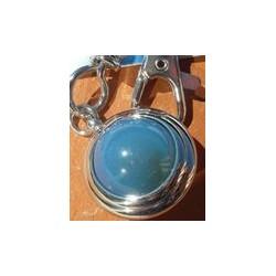 Porte clé en Agate bleue