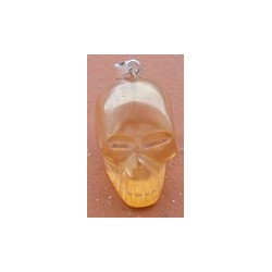 Pendentif Mini crâne en Aqua Tangerine
