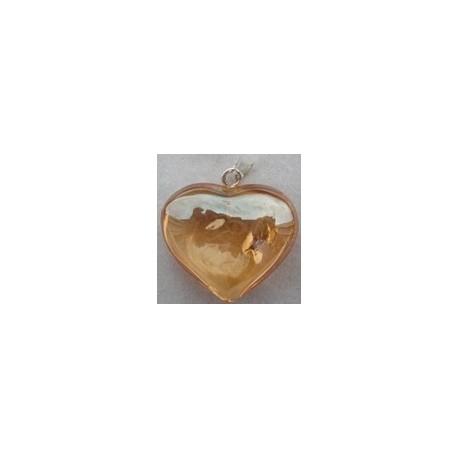 Coeur en Aqua Tangerine