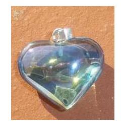 Pendentif Cœur en aqua aura