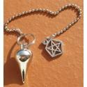 Pendule métal étoile de David