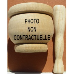 Mortier en bois petit format