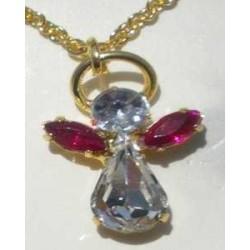 Pendentif Ange en cristal  JANVIER