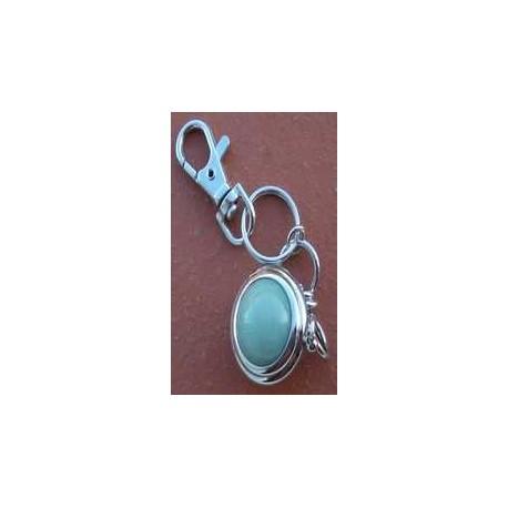 Porte clés pierre AGATE BLEUE